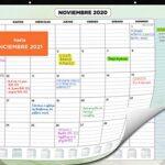 Calendario mesa 2020